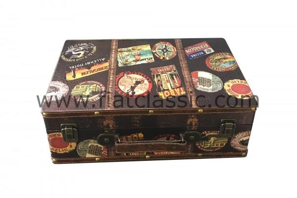 Wooden case DEKO ca. 36,5x26x12,5cm Fiat 126 - Fiat 500 - Fiat 600