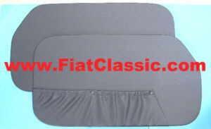 Deurpanelen zwart (2 gaten) Fiat 600