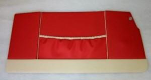Panneau de porte Trasformabile rouge/blanc Fiat 500 Bianchina