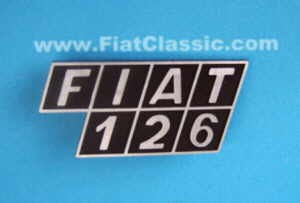 Emblème arrière Fiat 126