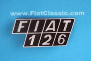Rear emblem Fiat 126