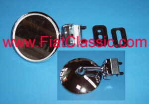 Clamping mirror for door 85 mm Fiat 126 - Fiat 500 - Fiat 600