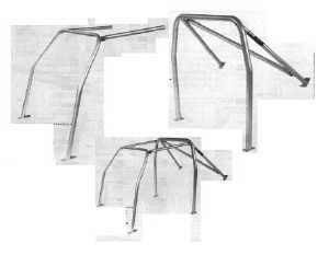 Überrollkäfig 6-Punkt aus Stahlrohr Fiat 500