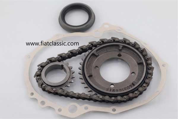 Timing chain set with seal and oil ring Fiat 126 - Fiat 500