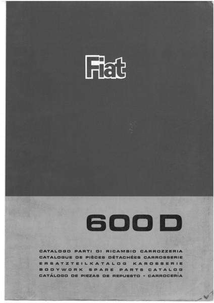 Ersatzteilbuch Karosserie (110 Seiten) Fiat 600 Kopie