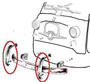 Stoßstangenhörner Paar gebraucht Fiat 600 Multipla