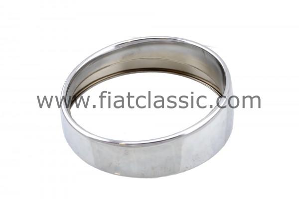 Headlight ring chrome 13/14,5 cm Fiat 500