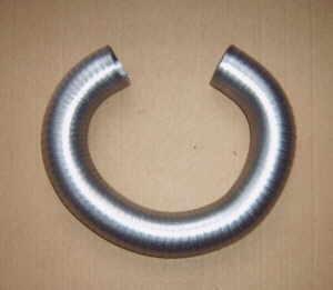 Tubo di riscaldamento anteriore in alluminio Fiat 126 (1a serie)