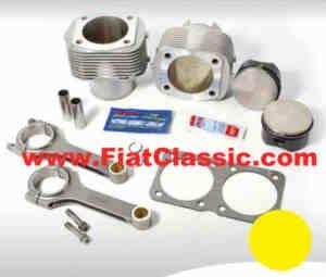Engine displacement 739 ccm (with standard crankshaft) Fiat 126 - Fiat 500