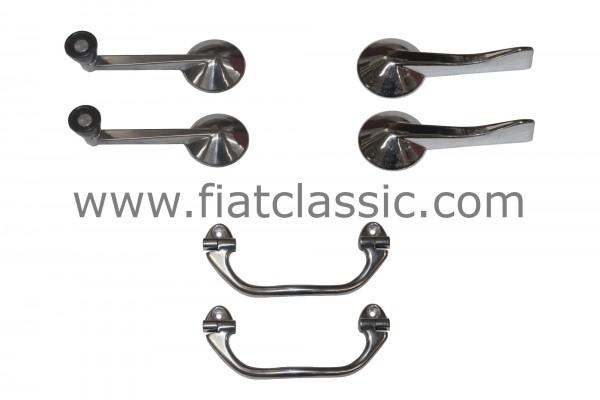 Door set aluminium Fiat 126 - Fiat 500