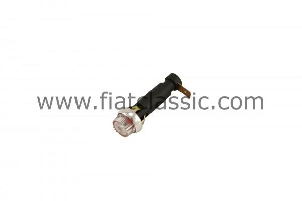 Indicatore luminoso di carica con lente rossa Fiat 500 - Fiat 600