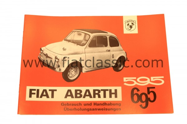 ABARTH Manuel d'instruction 595/965 Fiat 500