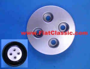 Couvercle pour moyeu de roue argent Fiat 126 - Fiat 500 - Fiat 600