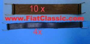 Rubber bands for front seats; set for 2 seats Fiat 126 - Fiat 500 - Fiat 600