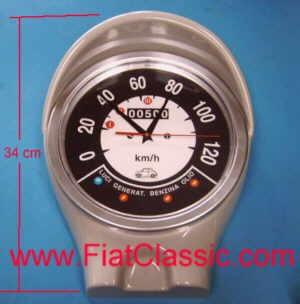 Speedometer wall clock Fiat 500