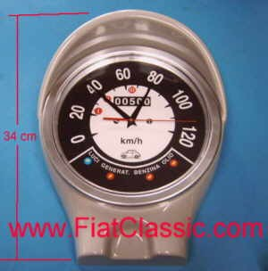 Horloge murale avec indicateur de vitesse Fiat 500