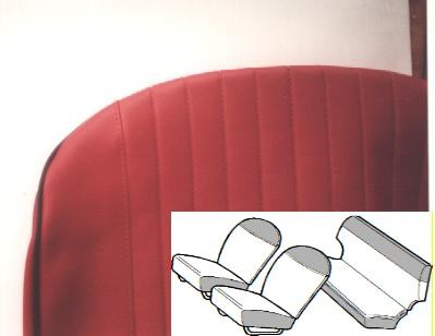 Seat covers luxury bordeaux-red front and rear Fiat 500 L
