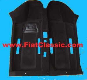 Teppichboden schwarz in Veloursqualität Fiat 600