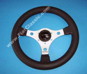 Sport steering wheel black leather 31cm Fiat 126 - Fiat 500 - Fiat 600