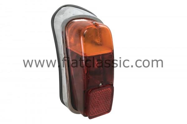 Feu arrière gauche en plastique chromé Fiat 600