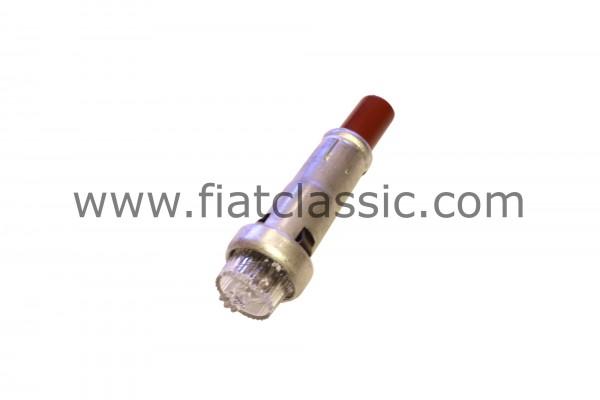 High beam indicator lamp blue lens (round plug) Fiat 500 - Fiat 600