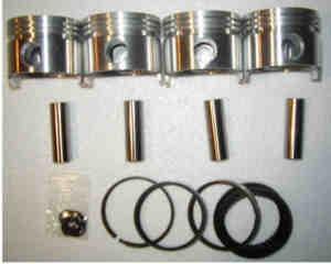 Satz Kolben mit Ringen 67,x mm Fiat 850/1000