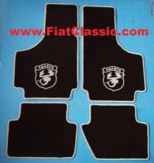 Doormats (Set) ABARTH black/grey Fiat 126 - Fiat 500 - Fiat 600