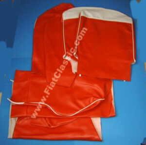 Stoelhoezen rood/wit Fiat 600