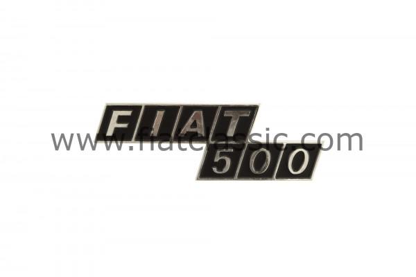 Rear emblem metal Fiat 500