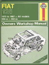 Manuale di riparazione auto inglese Fiat 126 (serie 1. e 2.)