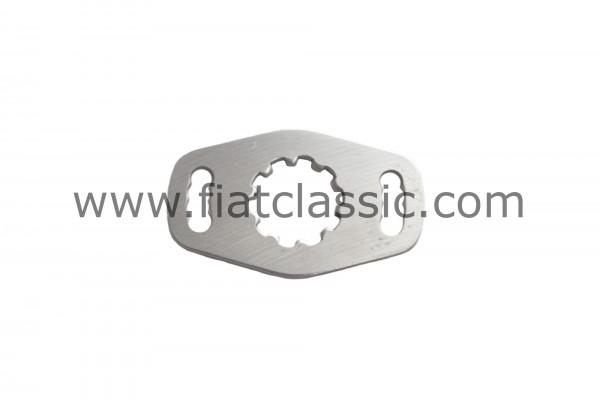 Steering gear adjustment plate
