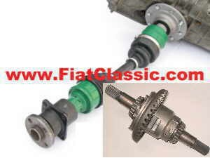 Limited slip differential with axle set Fiat 500