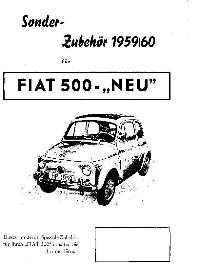 Toebehorenbrochure Fiat 500/600/1100/Topolino