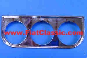 Instrument panel in chrome, 3-hole Fiat 126 - Fiat 500 - Fiat 600