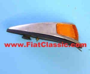 Indicatore di direzione giallo alluminio base Fiat 600