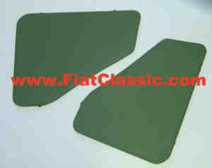 Rear fairing green Fiat 500