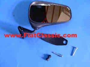 Spiegel für Türmontage rechts 75 mm Fiat 126 - Fiat 500 - Fiat 600