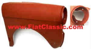 Front fender right Fiat 500 Bianchina 61->