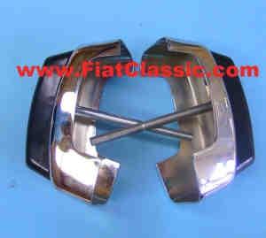 Paire de cornes de pare-chocs Fiat 126 - Fiat 500 - Fiat 600