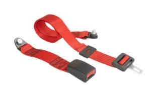 Pelvic safety belt in red Fiat 126 - Fiat 500 - Fiat 600