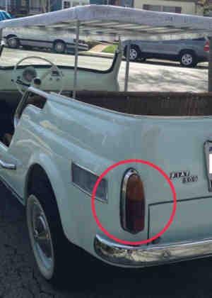 Taillights (pair) Fiat 500 Jolly