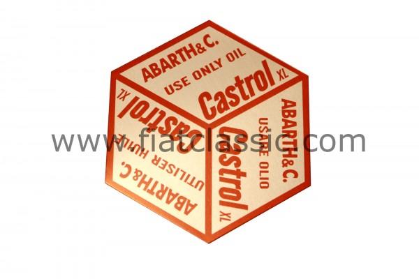 Sticker for oil filler cap Castrol Fiat 126 - Fiat 500