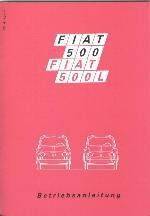 Operating instructions 28th edition Fiat 500 F/L/R