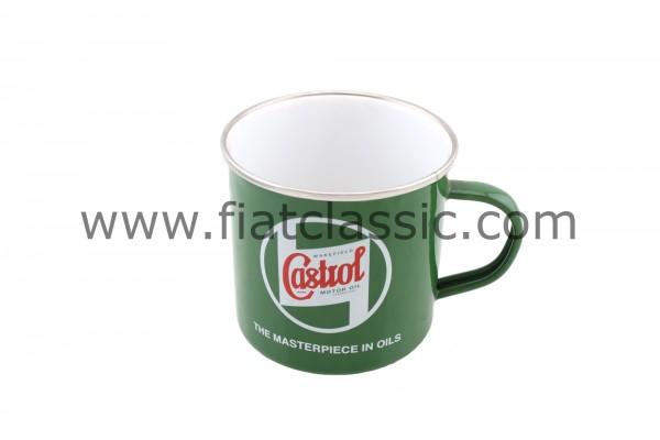 Tasse en émail Castrol Classic