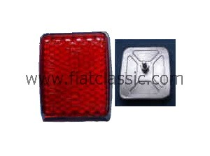 Reflector (cat's eye) Top quality with metal base Fiat 500 N/D - Fiat 600