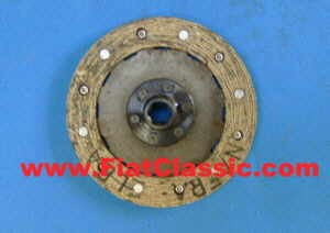 Clutch disc coarse toothed 140mm Fiat 500 N/D