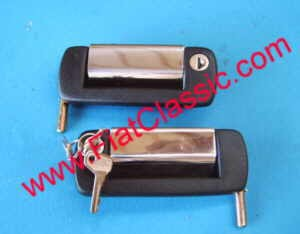 Door handle outside with key Fiat 126