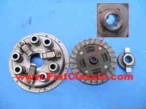 Clutch kit dome springs, coarse toothing Fiat 600