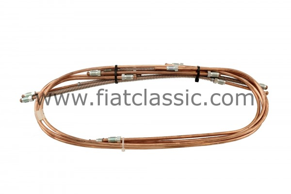Brake line set (long nipples) Fiat 500