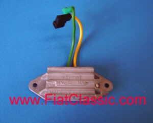 Regelaar voor driefasige wisselstroomdynamo ZELMOT Fiat 126 (1ste en 2de serie)